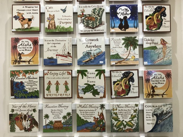Hand Painted Tiles - Banana Patch Studios - shop in Kauai