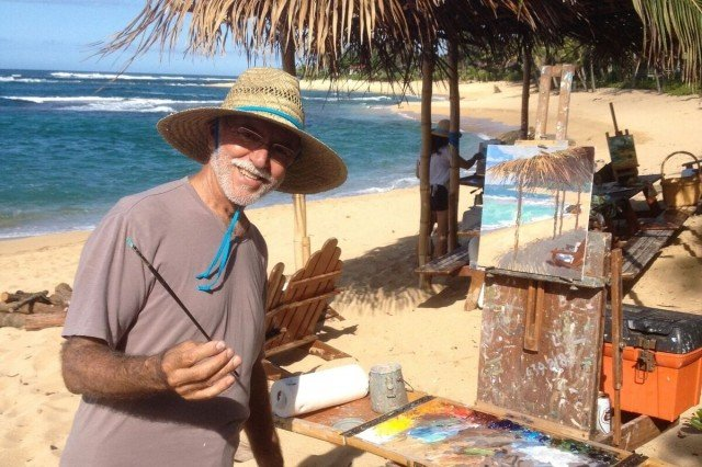 A Wonderful Artist on Kauai, Hawaii – Saim Caglayan – Plein Air Painting