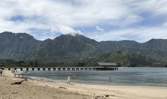 An April Walk On Hanalei Bay – Kauai – Hawaii