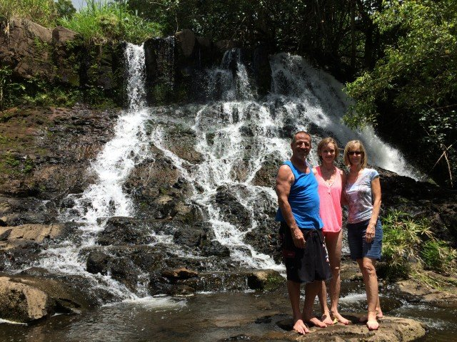 Hike To A Waterfall – Ho'opi'i Falls – Kauai – Hawaii